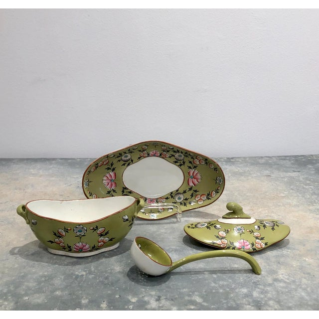 English Part Spode Dessert Set, England 19th Century - 18 Pc. Set For Sale - Image 3 of 11