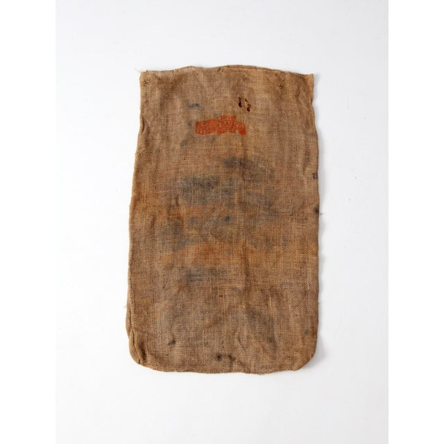 Folk Art Vintage Burlap Potato Sack For Sale - Image 3 of 7