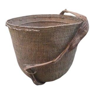 Vintage Yanomami Gathering Basket With Handle For Sale