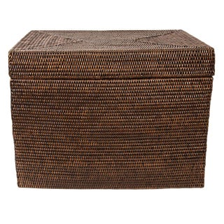 """Artifacts Rattan Rectangular Hinged Chest 19""""x11""""x11"""" For Sale"""