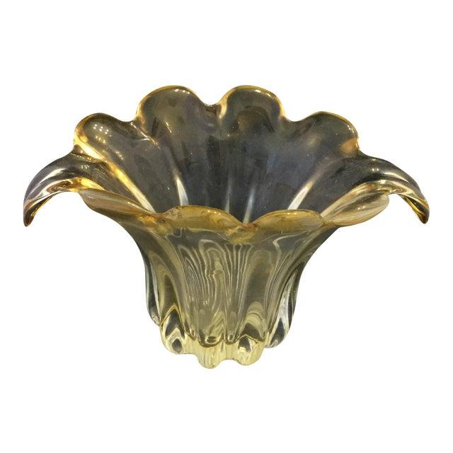 Amber Petal Vase For Sale