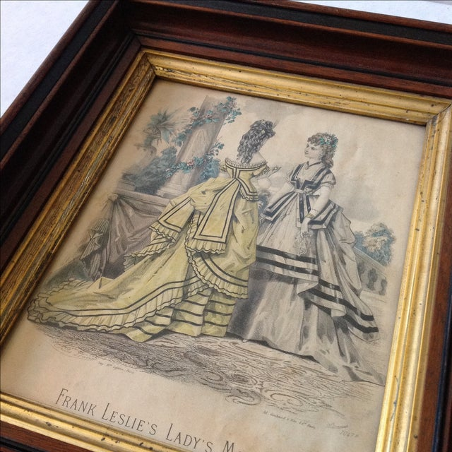 Victorian Antique Parisian Fashion Plate For Sale - Image 3 of 6