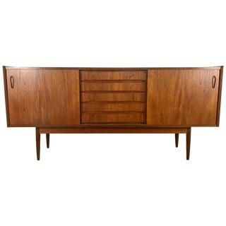 Classic Danish Modern Credenza/Sideboard Figured Walnut by Arne Vodder For Sale