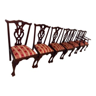 Victorian Vintage Dining Chairs - Set of 7 For Sale