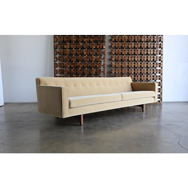 Mid 20th Century Vintage Mid Century Edward Wormley for Dunbar Bracket Back Sofa For Sale - Image 5 of 10
