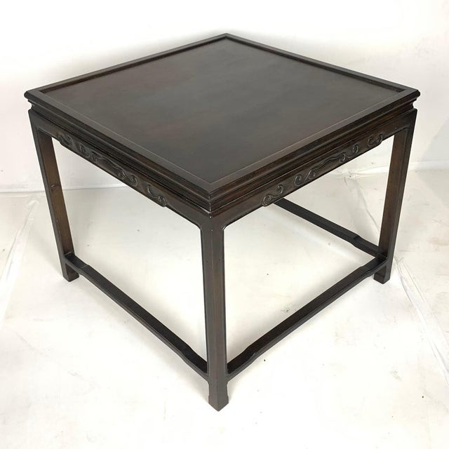 Wood Pair of Mario Buatta for Widdicomb Asian Chinoiserie Ebonized Nesting Tables For Sale - Image 7 of 13