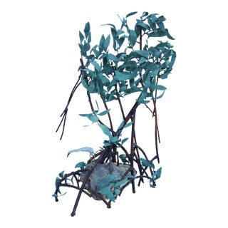 1960's Jim Lewk Handcrafted Mangrove Copper Sculpture