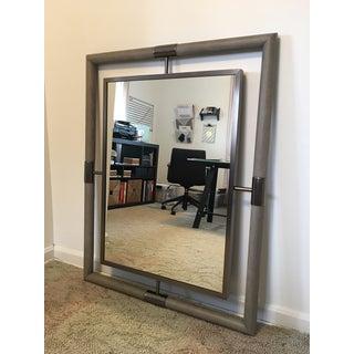 Bernhardt Transitional Mosaic Stainless Steel Mirror For Sale