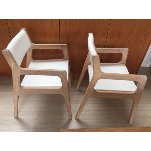 Contemporary De La Espada White Oak Deer Armchairs - a Pair For Sale - Image 9 of 11