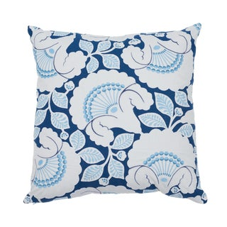 Contemporary Schumacher Jackie Applique Embroidery Pillow in Blue For Sale
