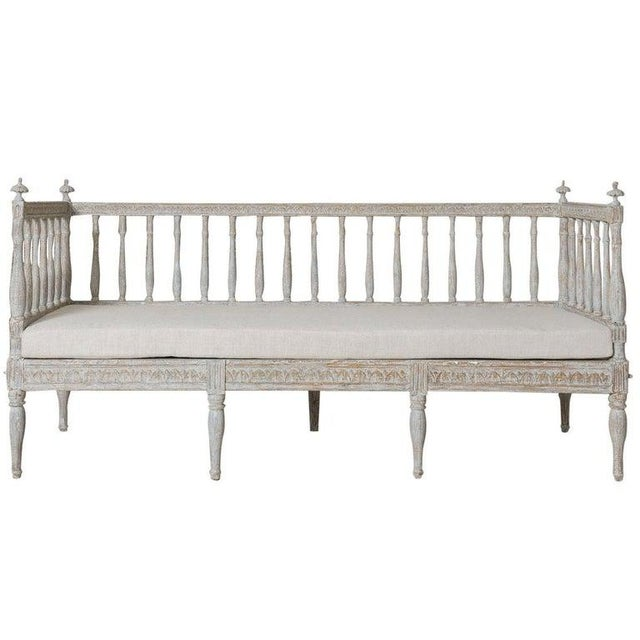19th Century Swedish Gustavian Period Sofa Bench For Sale - Image 12 of 12