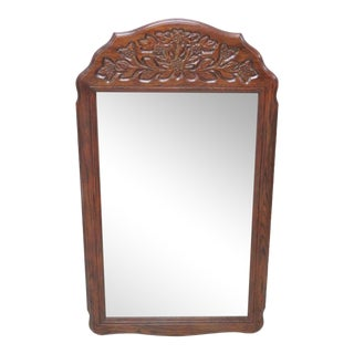Country French Stye Carved Oak Mirror