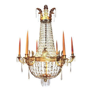 Early 19th Century Empire Ormolu Chandelier For Sale