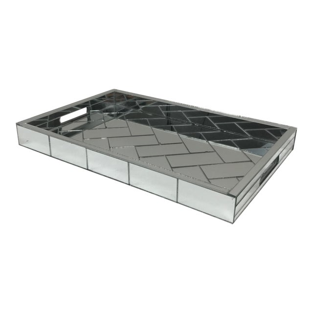 Decorative Mirrored Table Tray - Image 1 of 8