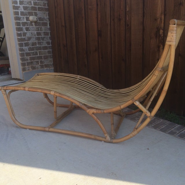 Boho Chic Albini Style Chaise Lounge For Sale - Image 3 of 5