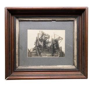 "Early 20th Century ""Manhattan Bridge Under Construction"" Photograph, Framed For Sale"