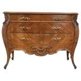 Image of French Louis XV Style Walnut Three-Drawer Commode From Provence, Circa 1890 For Sale