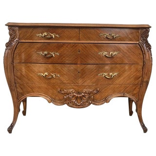French Louis XV Style Walnut Three-Drawer Commode From Provence, Circa 1890 For Sale