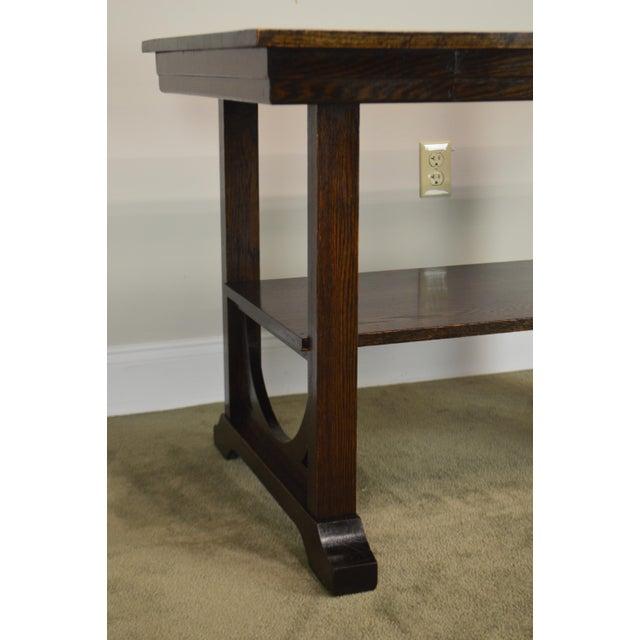 j.k. Rishel Antique Arts & Crafts Mission Oak Library Table Desk No. 811 For Sale - Image 9 of 13