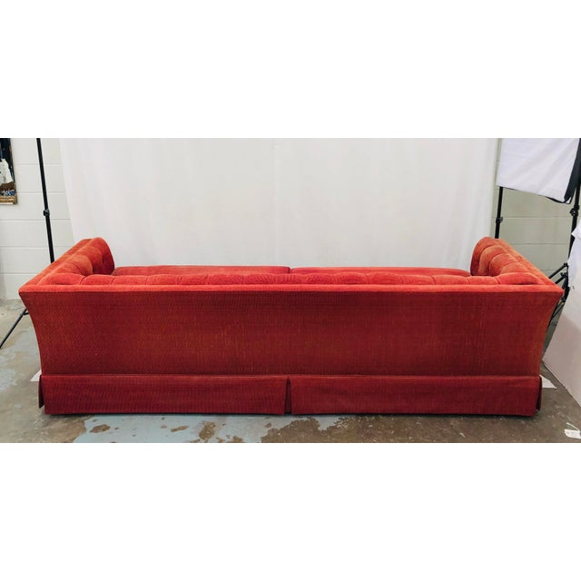 Wood Vintage Chesterfield Style Tufted Button Back Sofa For Sale - Image 7 of 13