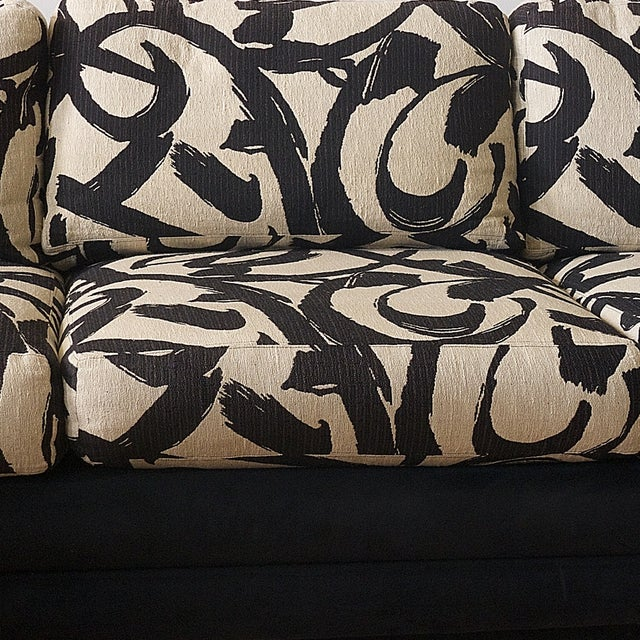 Abstract Patterned Secional Sofa by Directional - Image 6 of 8
