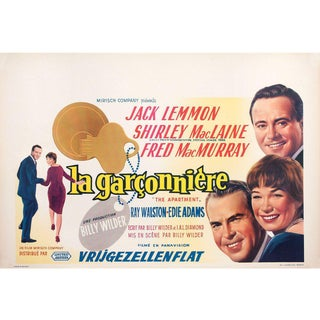 The Apartment 1960 Belgian Film Poster For Sale