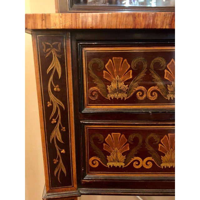 19th-Early 20th Century Edwardian Adams Inlaid Secretary Bookcase For Sale - Image 9 of 11