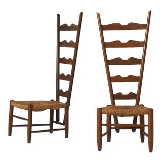 Pair of Fireside Chairs by Gio Ponti For Sale