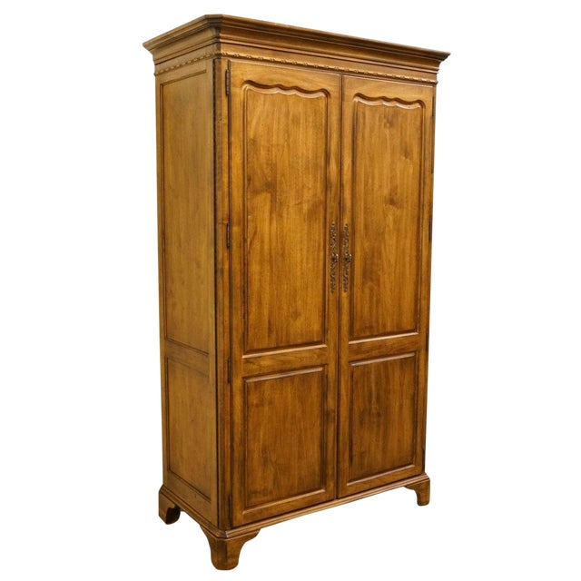 Late 20th Century Vintage Lexington Furniture Southern Living Collection Country French Armoire For Sale