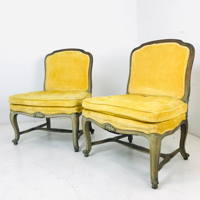 Pair French Slipper Chairs For Sale In Dallas - Image 6 of 6