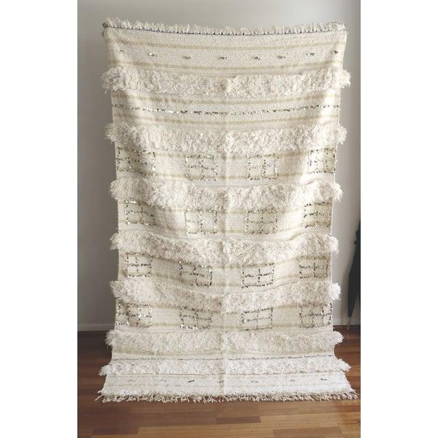 Vintage Moroccan Wedding Blanket - Image 2 of 5