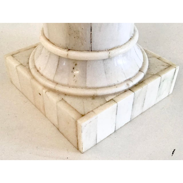 Tessellated Bone Column and Sun Detail For Sale In West Palm - Image 6 of 7