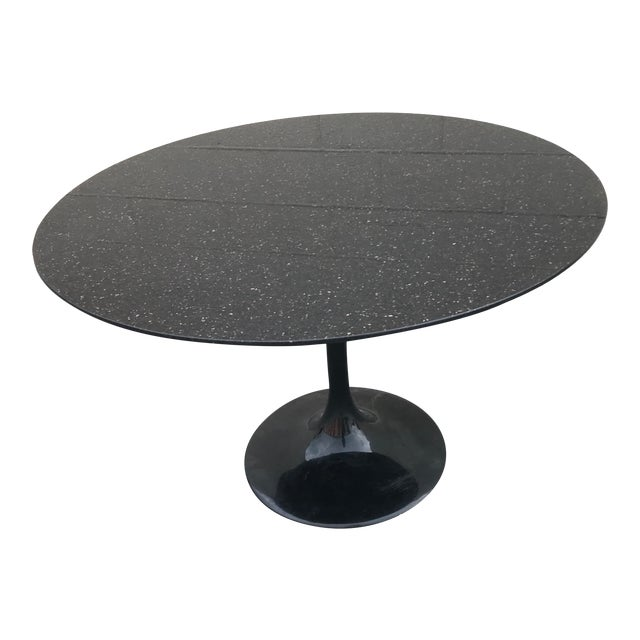 1980s Contemporary Marble Tulip Dining Table For Sale