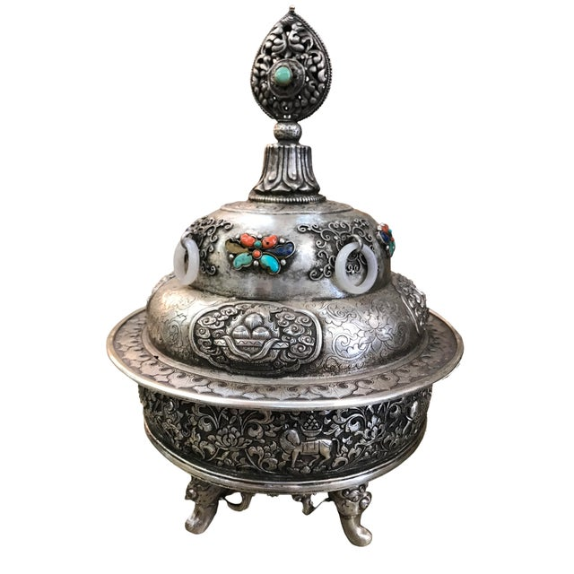 19th Century 19th Century Mongolian Silver Censor For Sale - Image 5 of 5