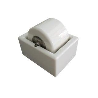 Vintage Sengbusch Milwaukee Large White Ceramic Porcelain Stamp Wetter Moistener For Sale