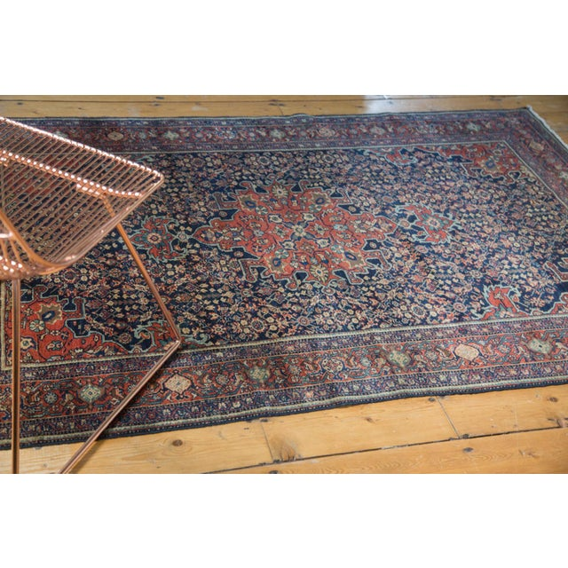"Islamic Vintage Farahan Sarouk Rug - 4'3"" X 6'6"" For Sale - Image 3 of 11"