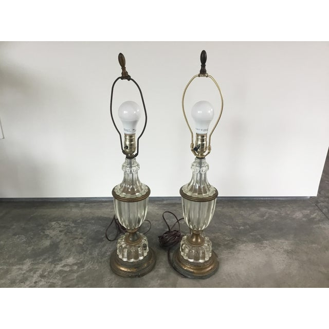 1900s Glass Table Lamps - a Pair For Sale - Image 10 of 10