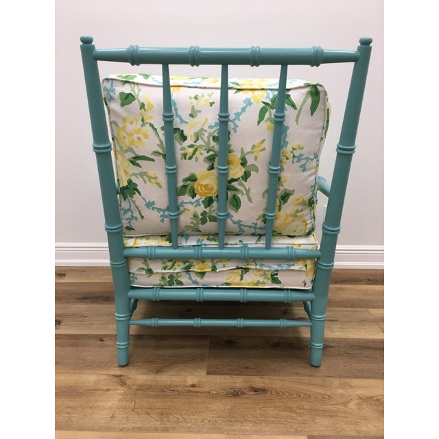 Dana Gibson Green Floral Cottonwood Chair For Sale - Image 4 of 9