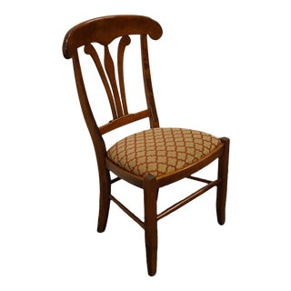 Nichols & Stone Gardener, Ma Hard Rock Maple Country French Side Chair For Sale