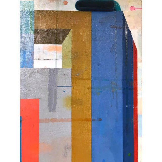 Deborah Zlotsky On, over, through, 2017 oil on canvas 40 x 40 in. (zlot108) Zlotsky's abstract paintings are at once vivid...