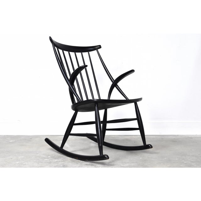 Mid-Century Rocking Chair by Illum Wikkelso For Sale - Image 13 of 13