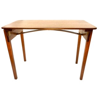 Vintage Nautical Mahogany Folding Custom Table For Sale
