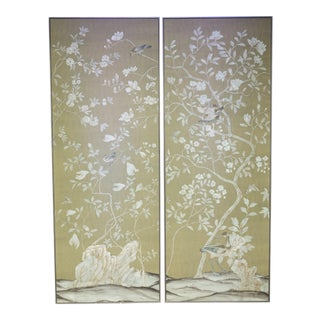 Chinoiserie De Gournay Framed Panels - a Pair For Sale