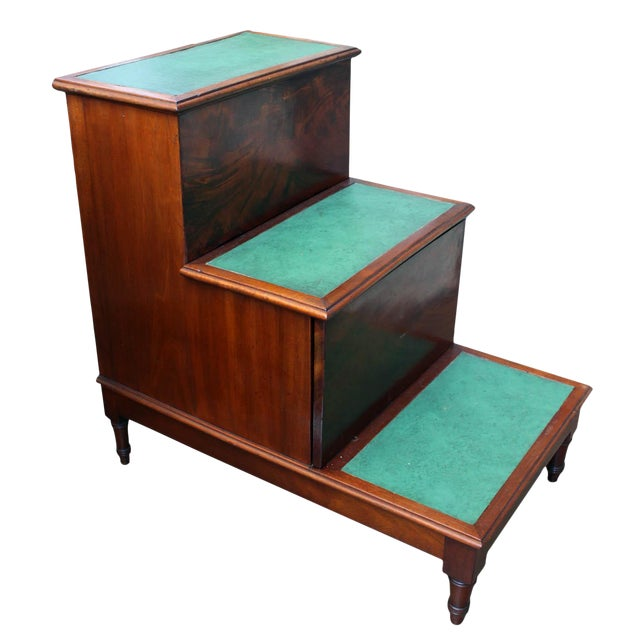 Mahogany Library Steps For Sale