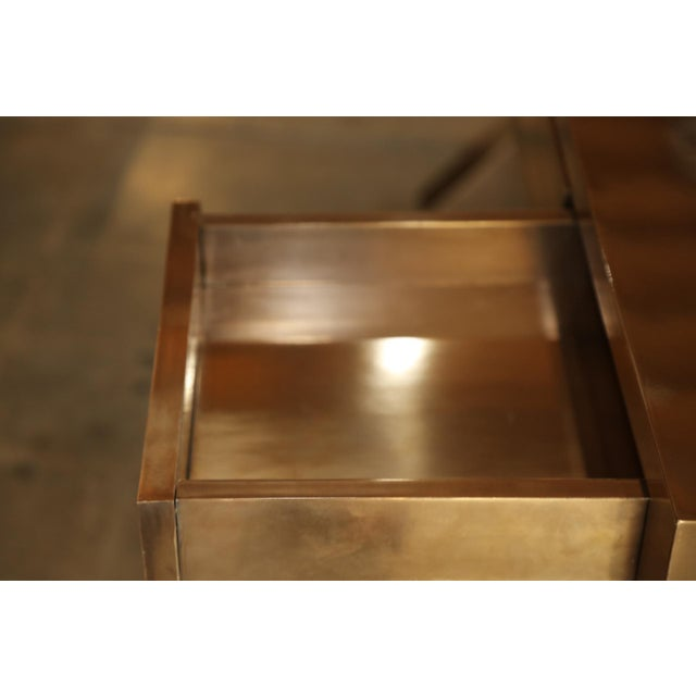Early 21st Century Zee Desk in Bronze by Bridges Over Time Originals For Sale - Image 5 of 13