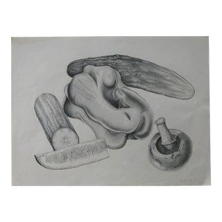Ann Bessette Charcoal Still-Life For Sale