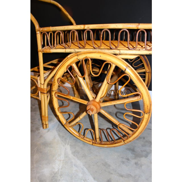 Rattan Bar Cart - Image 8 of 10