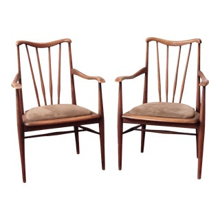 Vintage 1960s Mid-Century Modern Armchairs - a Pair For Sale