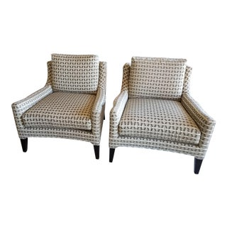 Modern Kravet Upholstered Chairs - a Pair For Sale
