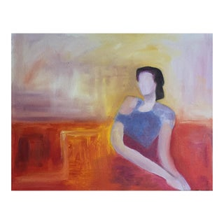 Original Waiting Around Oil on Canvas Painting